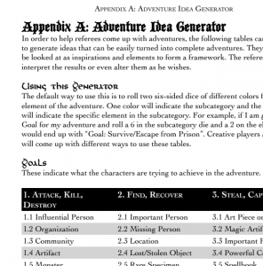 Sharp Swords & Sinister Spells Adventure Idea Generator